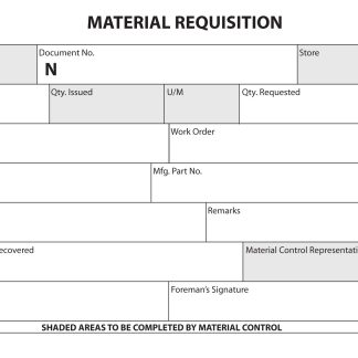 2070 Materials Requisition